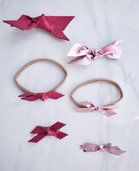 HOT PINK | mini Madeline bow