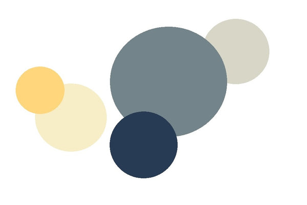 beach inspired colours, seaside colours, home, decor, interior, paint scheme, blue, yellow, grey, jot and jumble, jot & jumble
