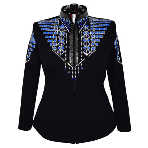 Royal Blue and Black Diamond All Day Jacket (3X)