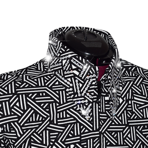 Black and White Geometric Shirt (S-4X)