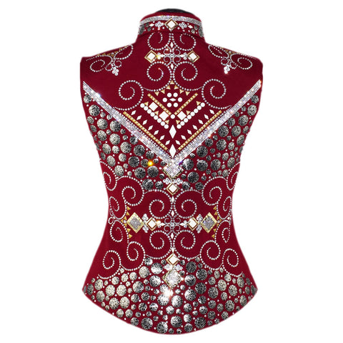 Crystal, Rose and Gold Vest (XS)