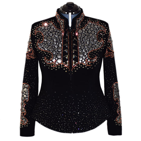 Rose Gold and Silver Show Jacket (XL)