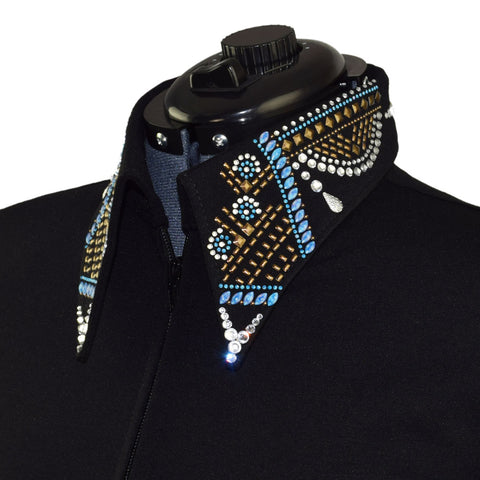 Blue and Bronze Elegance Jacket (S, 3X)