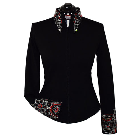 Red and Gray Elegance Show Jacket (XXS-5X)
