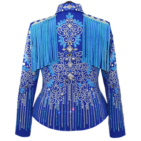 Royal Aqua Fringe Jacket (XL/1X)
