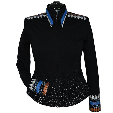 Blue and Copper Riding Jacket (L/XL)