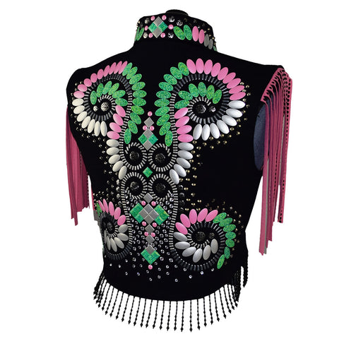 Pink and Green Bolero Set (S)