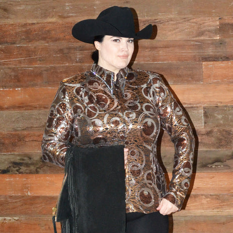 Copper Couture Western Show Shirt (2X/3X Petite)
