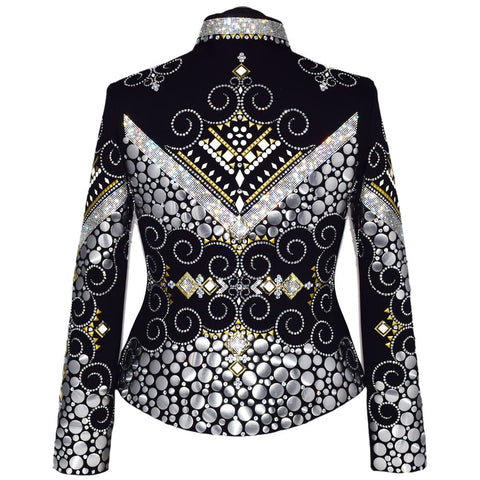 Diamonds and Gold Western Show Jacket (L)