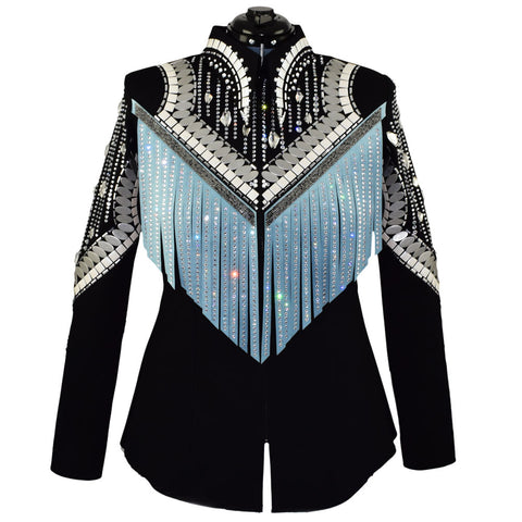 Blue Fringe Shirt or Jacket (L)