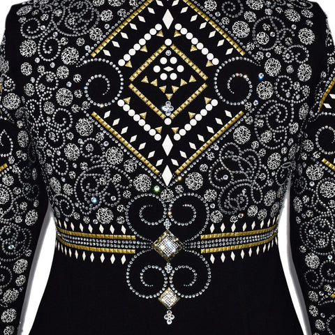 Gold and White Showmanship Jacket (L/XL)