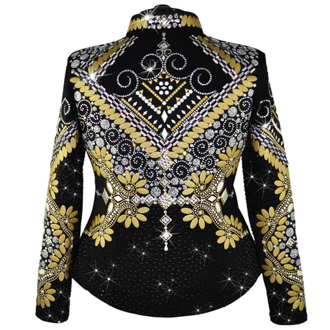 Gold and Black Western Show Jacket (2X/3X)