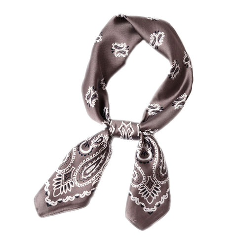 Silky Bandana Scarf (Copper or Gray)