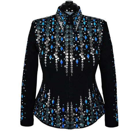 Blues, Teal and Silver Show Jacket (L/XL)