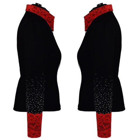 Red Lace Show Jacket (XXS-5X)