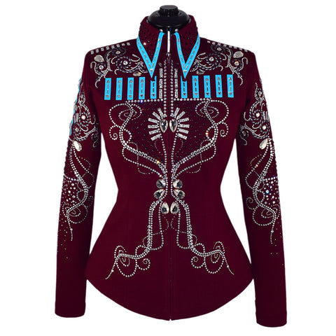 Wine & Aqua Showmanship Jacket and Pants (M)