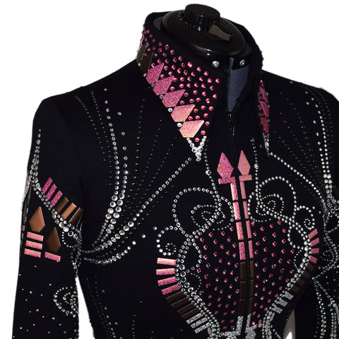 b25fa3a7 ... Pink, Brown and Black Western Show Jacket (S)