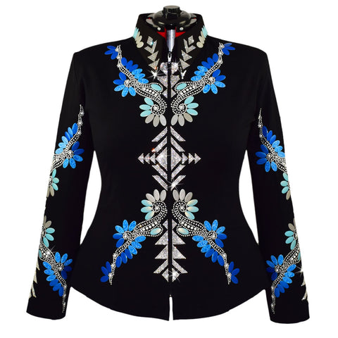 Blue Ombre and Diamonds Jacket (3X/4X)
