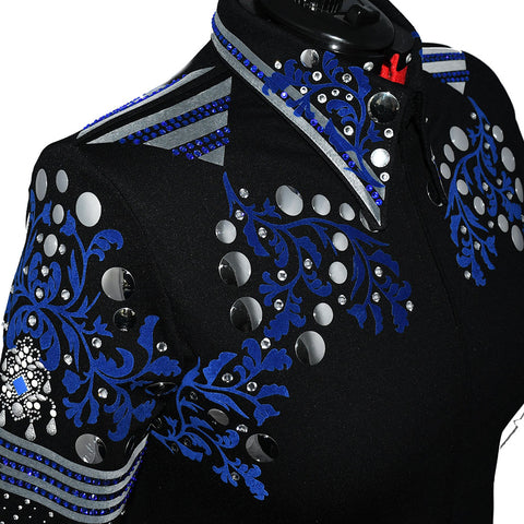 Blue and Gray Showmanship Jacket (2X)
