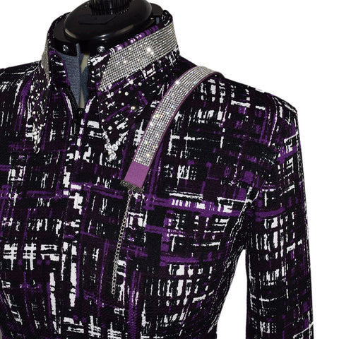 Purple, White and Black Show Shirt (XS, XL)