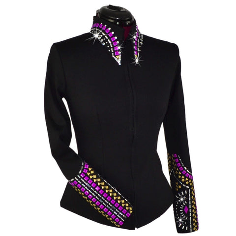 Electric Purple Geometric Show Jacket (XXS - 5X)