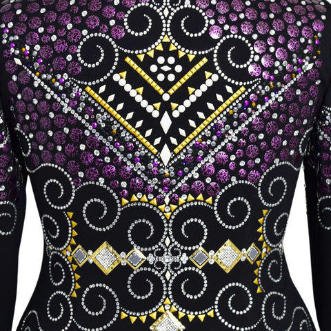Purple and Gold Western Show Jacket (1X)