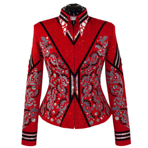 Red, Gray and Black Show Jacket (M)