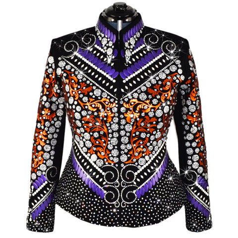 Copper and Purple Western Show Jacket (XL)
