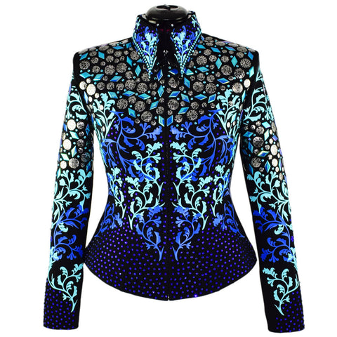 Royal Blue and Tiffany Western Show Jacket (S)