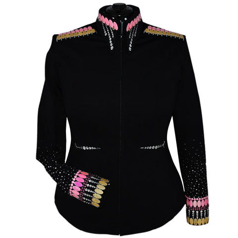 Gold and Pink Showmanship Jacket (XL)