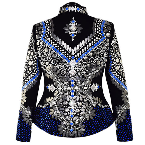 Sapphire and Gray Showmanship Jacket (XL)