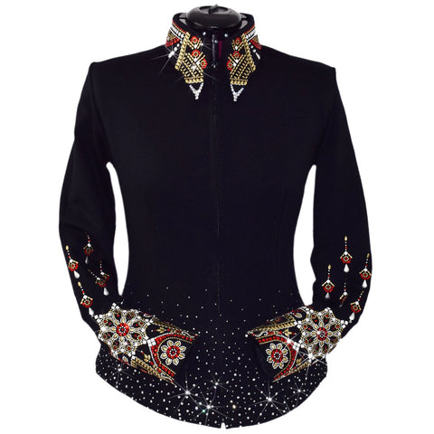 Ruby and Gold Noir Show Jacket (3X)