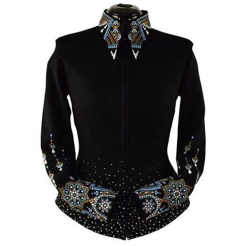 Sky Blue and Bronze Noir Show Jacket (XXS - 5X)