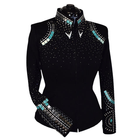 Teal and Gray Horsemanship Jacket (XL)