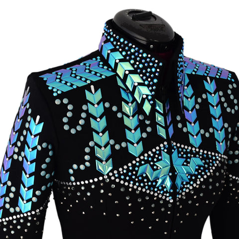 Color Change Blue/GreenWestern Show Jacket (XS)