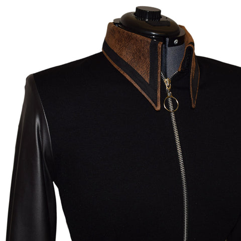 Leather Look and Suede All Day Jacket (S/M)