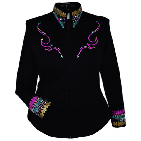 Fuchsia, Teal and Gold All Day Jacket (3X)