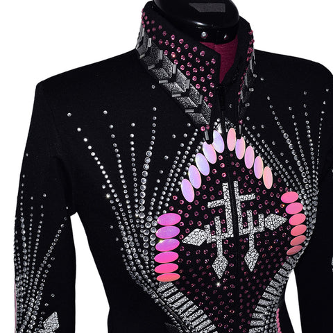 Pink and Gray Showmanship Jacket (XS)