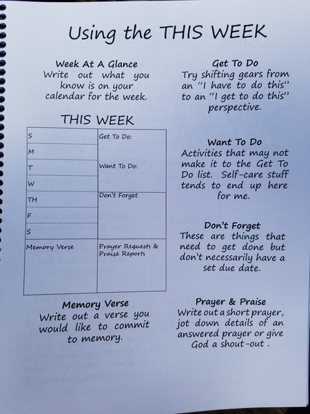 A Guide To Grace-Filled Living® Planner