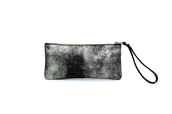 Leather Pouch, in Gunmetal