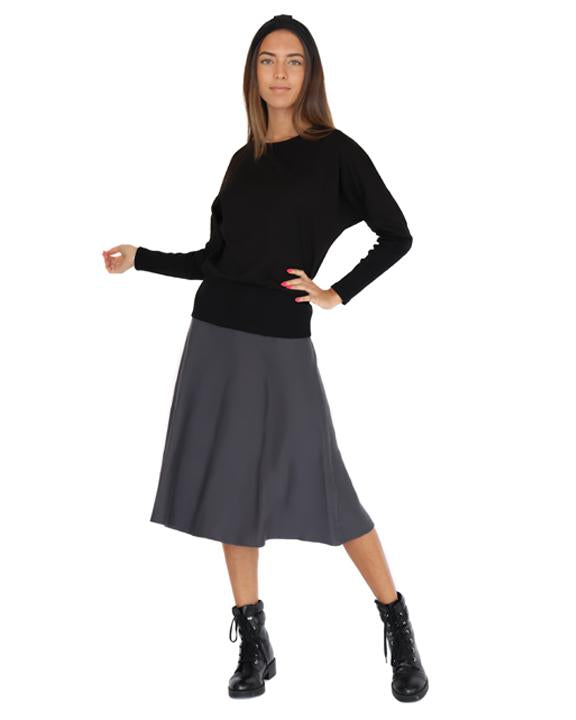 Knit Fit and Flare Skirt