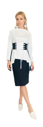 Color Block Smock Top