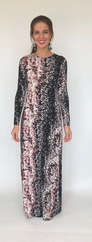 Fierce Maxi Dress Print Blush
