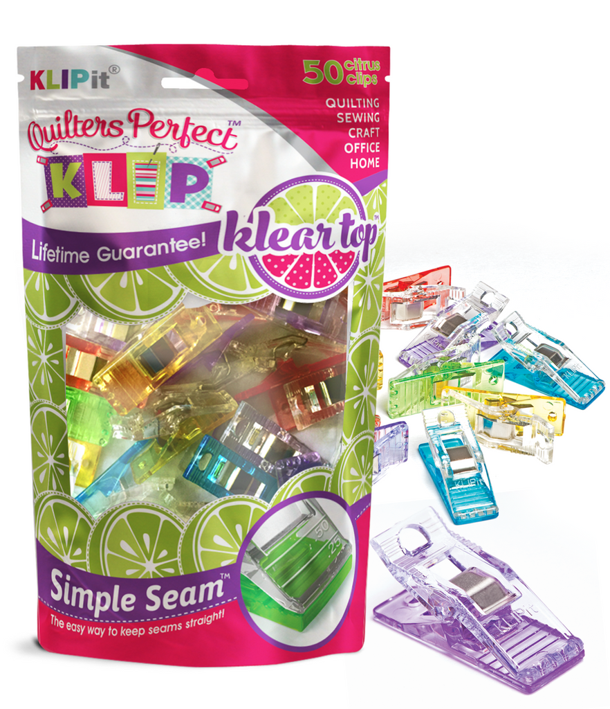 Klear Top Citrus Clips with double Simple Seam(tm) guides