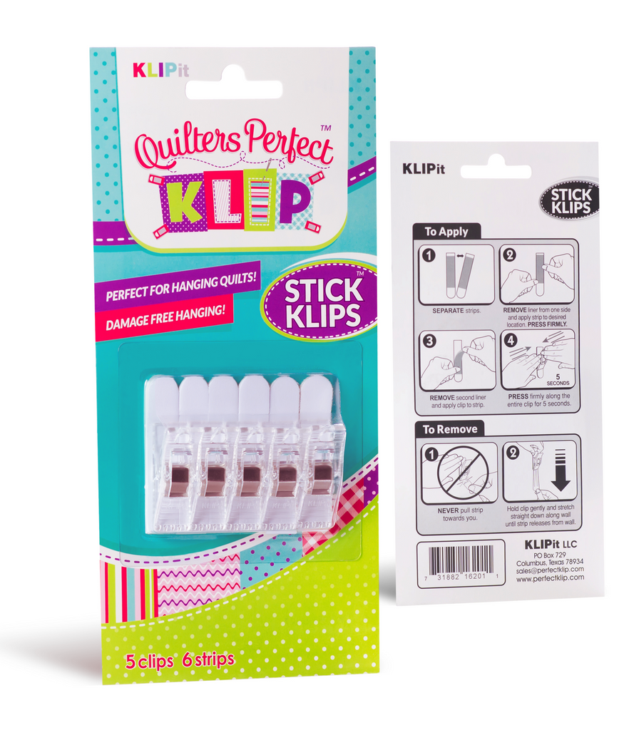 KLIPit Stick Klips 5 Pack Clear
