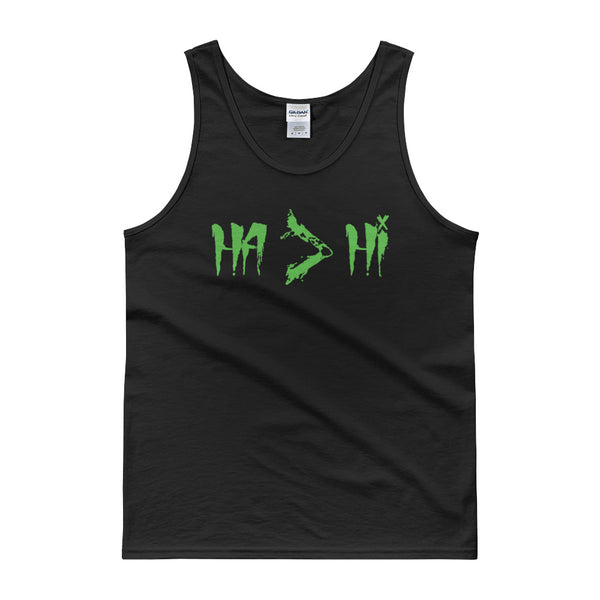 """Ha Is Greater Than Hi"" (Men Tanks)"