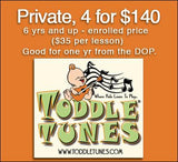 Private Lessons (sibling discount)