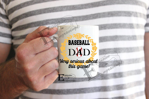 Baseball Dad Very Serious Mug