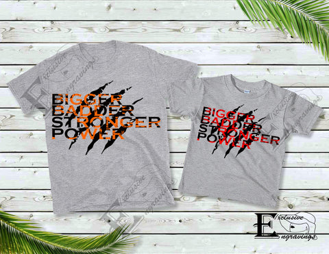 """Bigger Badder Stronger Power Claw"" Orange T-shirt"
