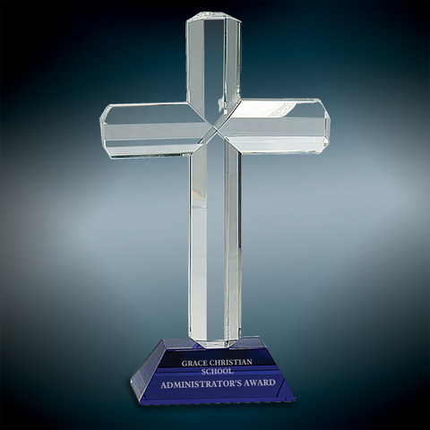 Premier Crystal Cross with Base